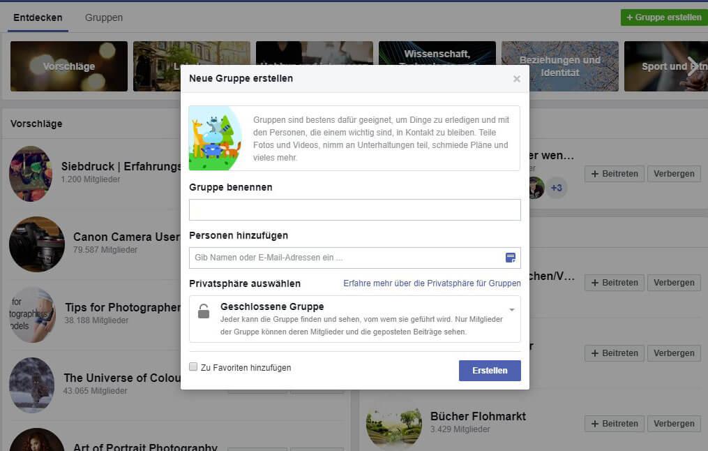 Gruppen Mitglieder Bug bei Facebook