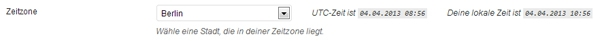 Zeitzone WordPress