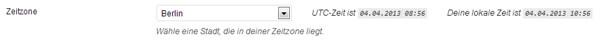 Zeitzone WordPress