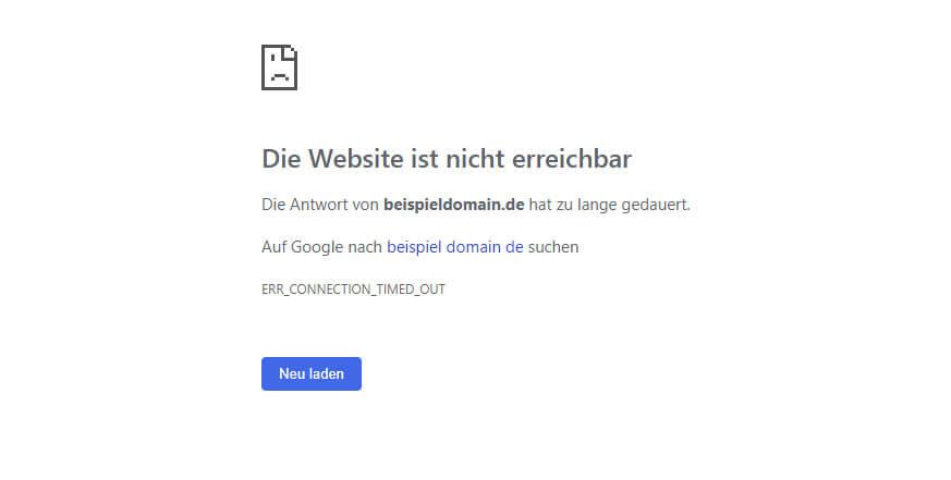 1&1 Webseiten temporär nicht erreichbar