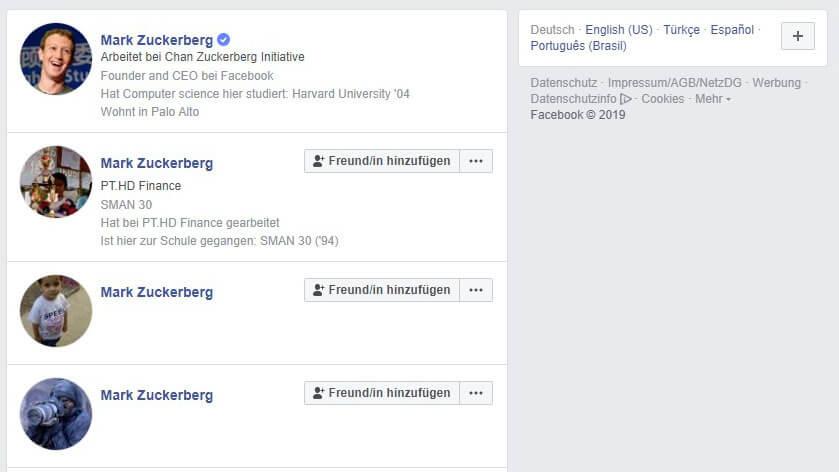 Facebook führt verifizierte Seiten und Profile ein