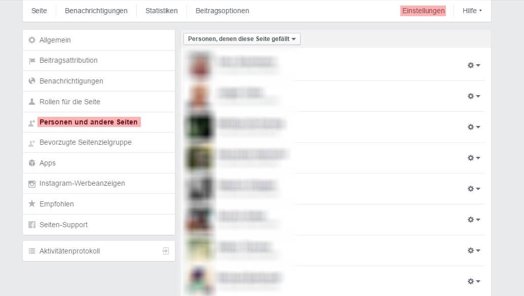 Alle Fans deiner Facebook Fanpage auflisten