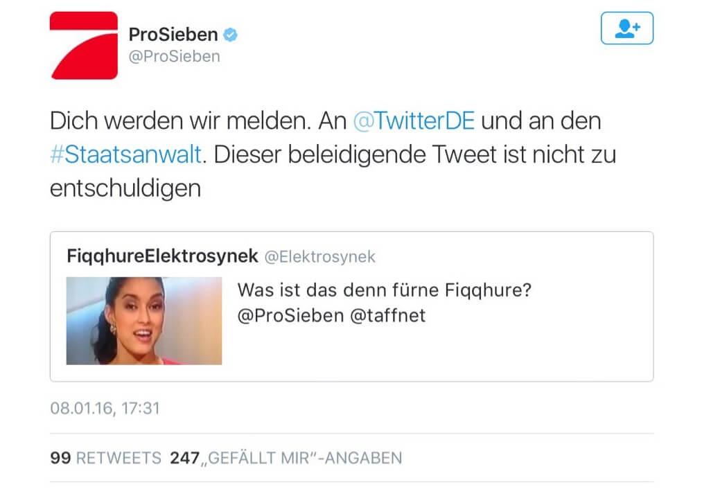 Der Hashtag #Pro7Boykott in den Twitter Trends
