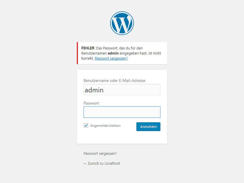 WordPress Admin-Passwort per MySQL zurücksetzen