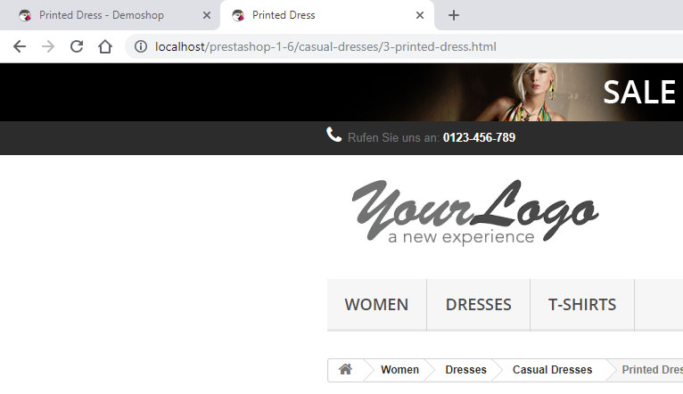 PrestaShop: Shopname aus dem Titel entfernen