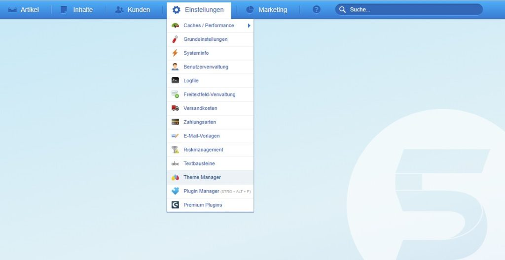 Shopware 5 Theme Manager